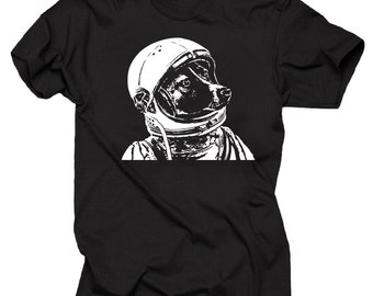 Space Dog T-Shirt Funny Dog Astronaut Tee Shirt