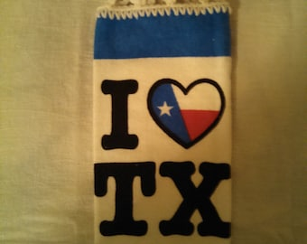 I Love Texas Hanging Kitchen Towel