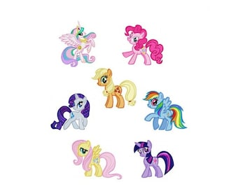 My Little Pony Embroidery Design - Set of 6 - Get 1 FREE - Instant Download