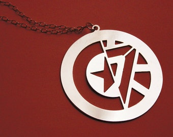 STONY Captain America Iron Man inspired necklace - 3 colors available