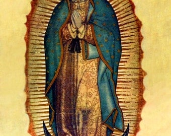 Digital DIY Print of Our Lady of Guadalupe 8x10 Virgin Mary Printable Catholic image