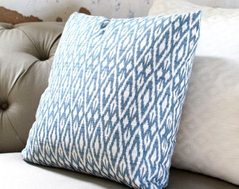 Denim Ikat Pillow