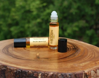 Perfume Oil, Patchouli, roll on, Essential Oils,  Patchouli Natural Perfume Oil, Aromatherapy  (.3) ounces 10ml