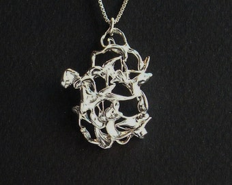 Organic Pendant in Sterling Silver (925)
