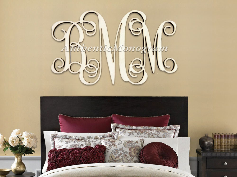 Extra Large Wooden Monogram Decorative Letters Monogram