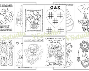 Kids Wedding Activity Coloring Book Personalized Wedding
