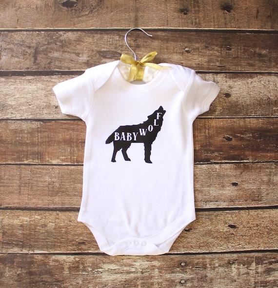 Baby Wolf esie Baby esie Infant esie Baby Bodysuit Baby