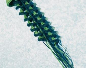 Green Crochet Jellyfish Amigurumi | Crochet Amigurumi Under the Sea | Green Jellyfish Crochet Christmas Ornaments | Soft Animal Plush Toys