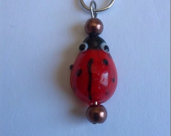 Lady Bug Stitch Markers - Set of 5
