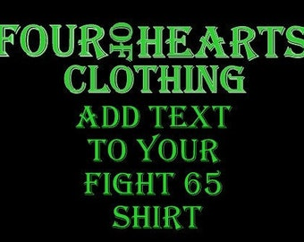 Add Text to shirt
