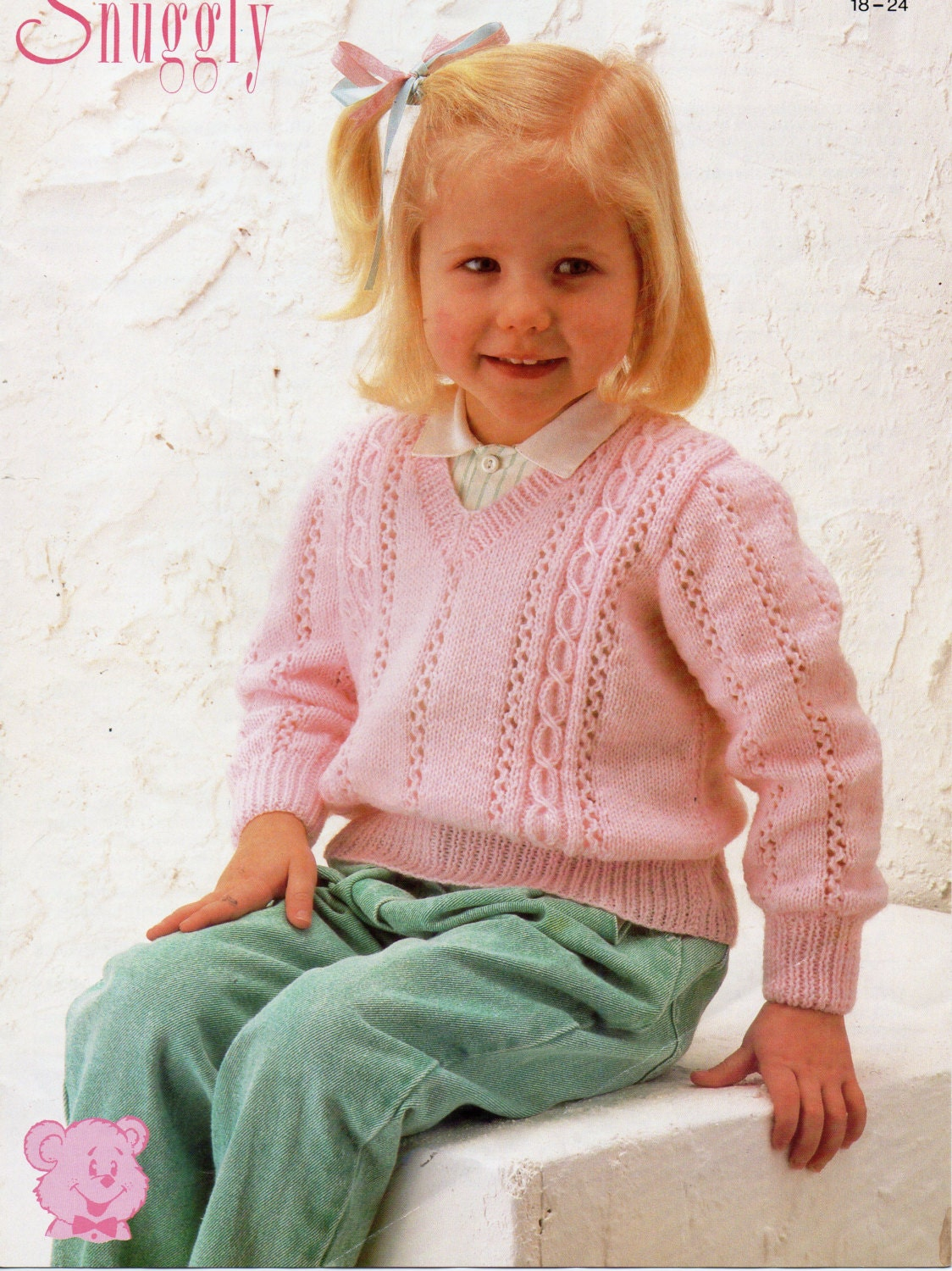 Baby v neck cable sweater knitting pattern toddler jumper zoom bankloansurffo Image collections