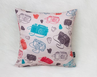 Photo Cameras Cushion Cover