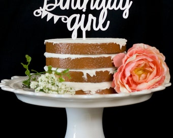 Birthday Girl Cake Topper