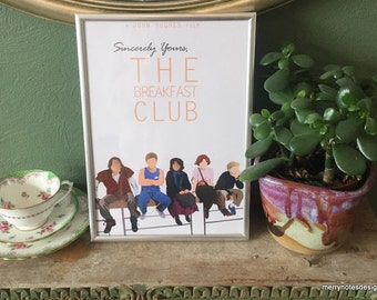 The Breakfast Club poster - A4 print