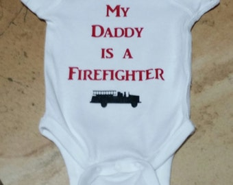My Daddy is a Firefighter Onesie