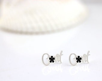 Mature - Cnnt earrings, Cnnt studs, Curse word, Statement piece, rebel jewelry