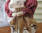 Primitive Winter Angel - Chirstmas decoration