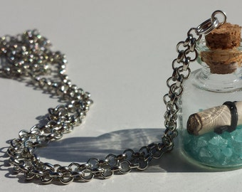 Message in a Bottle, Miniature Bottle Necklace