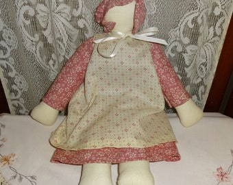 17 inch Soft Body Amish Doll Faceless