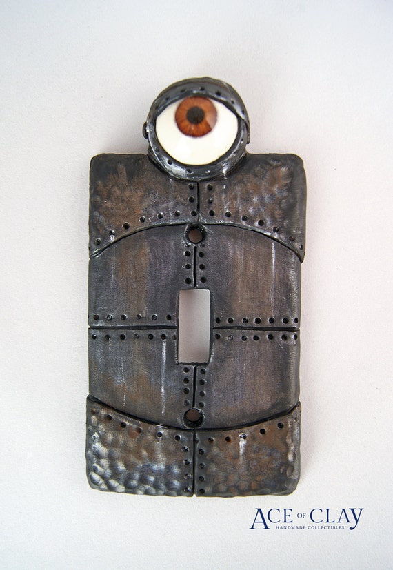 Steampunk Robot Eye Light Switch Cover Wall Decor By