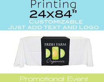 Table Cover/Runner for Marketing Conventions Craft Fairs Promotional Displays