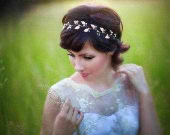 Gold leaf headpiece Bridal headpiece Greek headpiece Wedding hair band Bridal hair piece Grecian Leaf Hair Accessories, Wedding headpiece