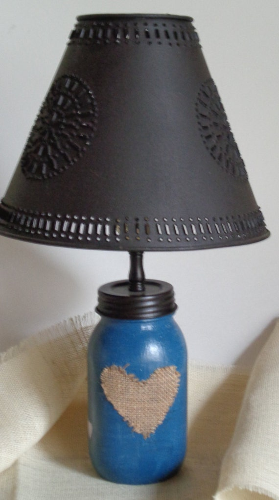 mason jar lighting shabby chic doilies tin lamp shade pendant. Black Bedroom Furniture Sets. Home Design Ideas