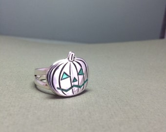 Sterling Silver Pumpkin Ring Handmade In The U.S.A
