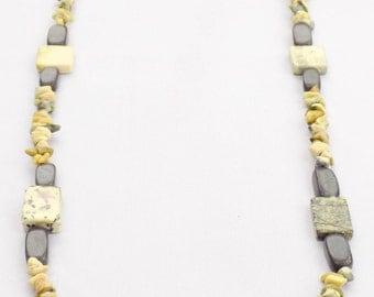 Handmade Turquoise & Blackstone Necklace. Kiltik Necklace