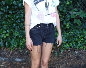 Vintage Levi's Faded Black Cut-off Shorts Size 28