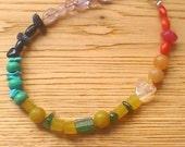 Chakra bracelet, positive energy Reiki infused semi-precious gemstone bracelet, spiritual bracelet, meditation bracelet, rainbow bracelet
