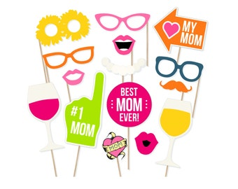 Mother's Day Photo Booth Props - Mother's Day Photobooth Props - Mother's Day Printable - Mother's Day Party - Mum Party