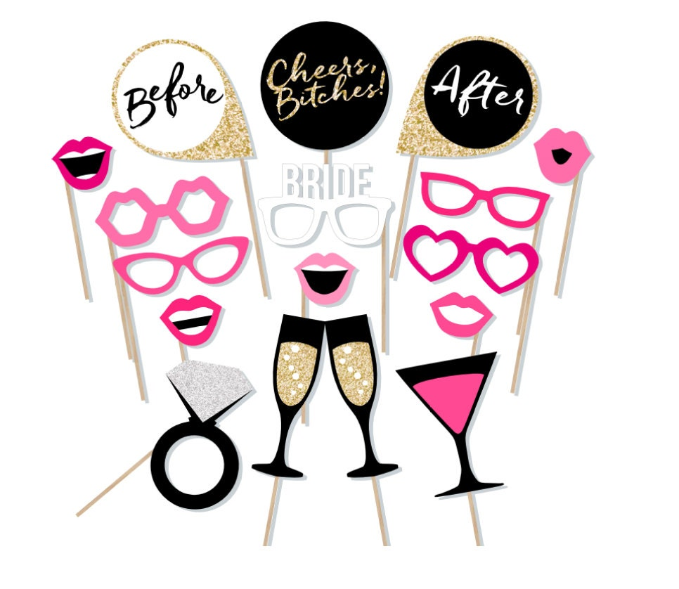 Printable Bachelorette Photo Booth Props Hen Party