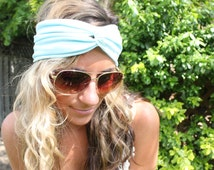 Yoga Headband, Baby Blue Headband, Workout Headband,Top Selling Headband, Twist Head Band, adult headwrap, Twist Headband, knot headband