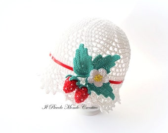 Hat for Baby Girls, Baby Summer Hat, Baby Girl Cotton Hat
