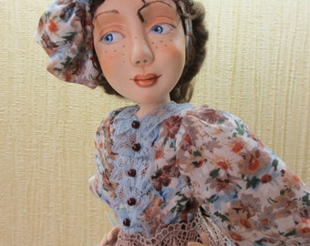 "OOAK artist doll ""HOSTESS"""