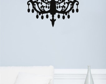 New Chandelier Wall Decal Wall Stickers Large 72 cm X 58 cm
