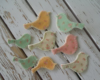 felt bird,cute bird,hair clip,birdie,bird,flower,green,cute,felt ,felt bird clip,