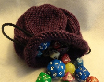 Knitted Dice Bag (Pick Your Color)