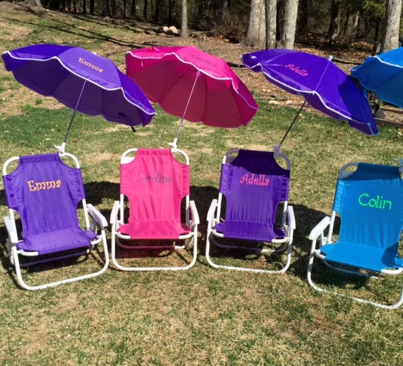 toddler beach chair with umbrella personalized 2