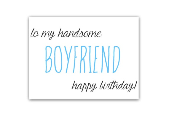 items similar to to my handsome boyfriend happy birthday card, Birthday card