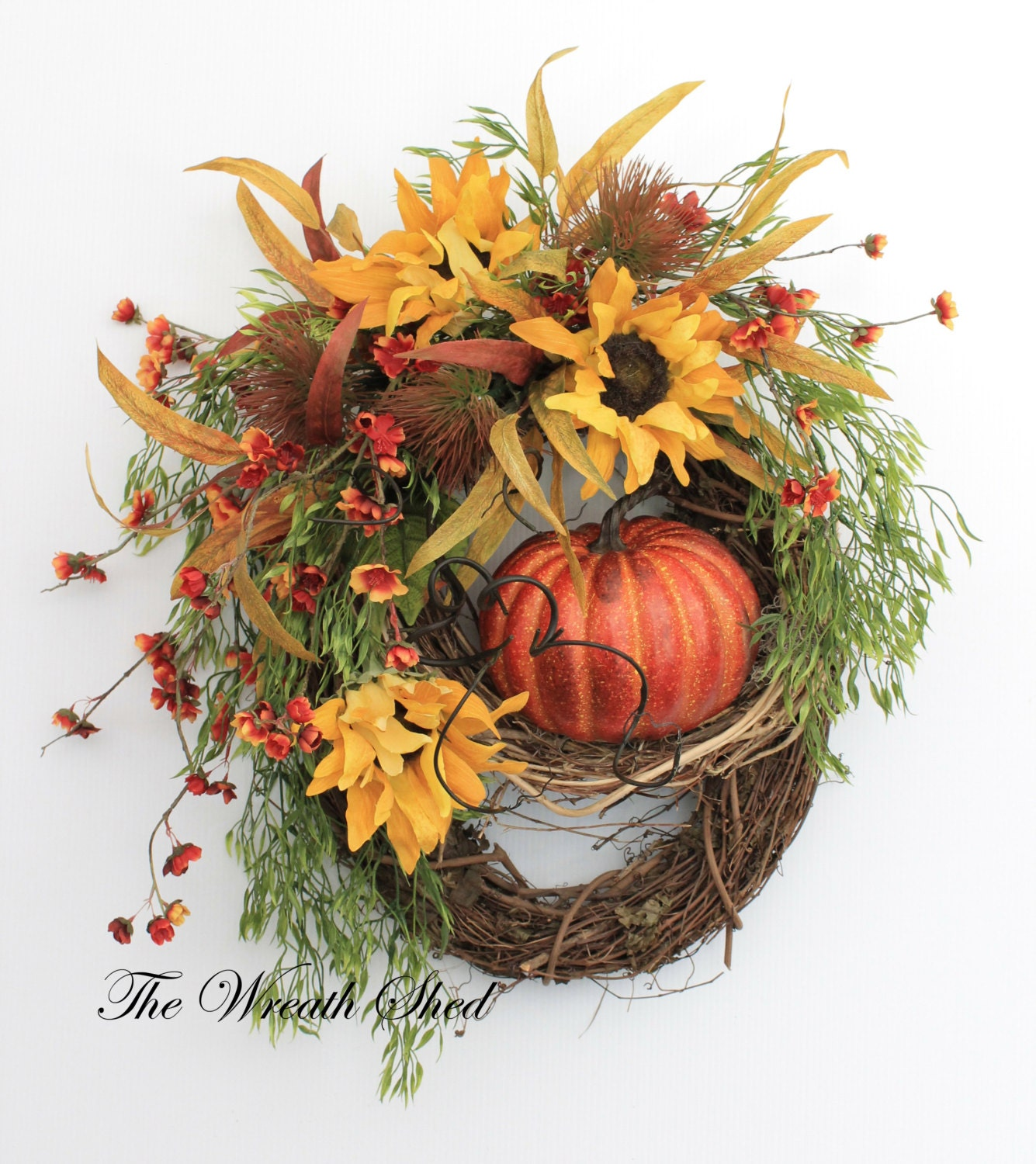 Harvest Fall Wreath Autumn Door Wreath By Thewreathshed On: fall autumn door wreaths