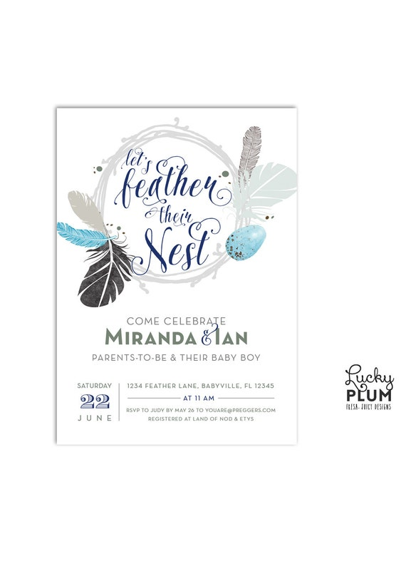 couples baby shower invitation twin baby shower invite bohemian