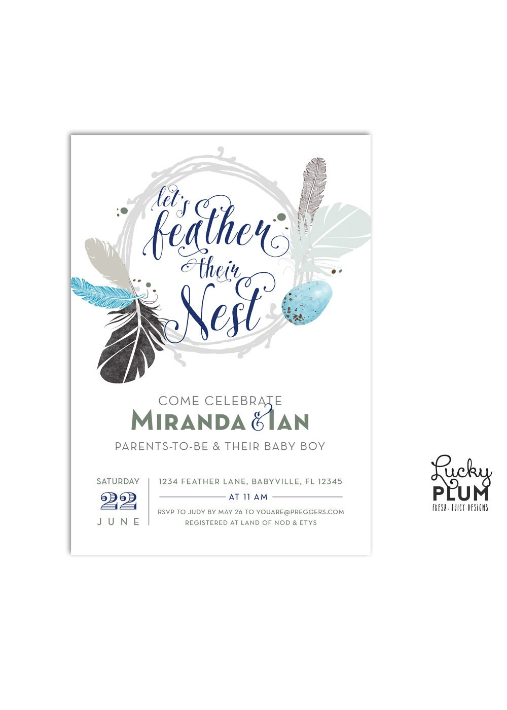 couples baby shower invitation twin baby shower invite