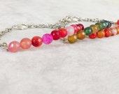 Stackable Agate bracelet, Positive energy meditation healing bracelet, Chakra balancing, Reiki Yoga Gem Bar bracelet, Gift for best friend