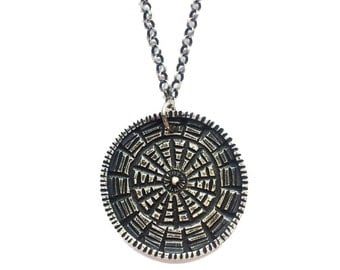 SALE Reversible Carved Medallion - Sterling