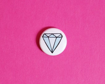 SALE Blue Diamond One Inch Button