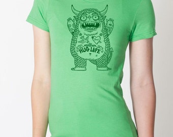Hug Monster Womens T-Shirt Small, Medium, Large, XL in 6 Colors