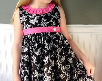 Butterfly dress Penelope dress  Pink Momi boutique
