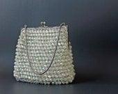 vintage 1920s art deco beaded evening handbag • vintage 20s cocktail bag • iridescent handbag flapper 20s handbag purse